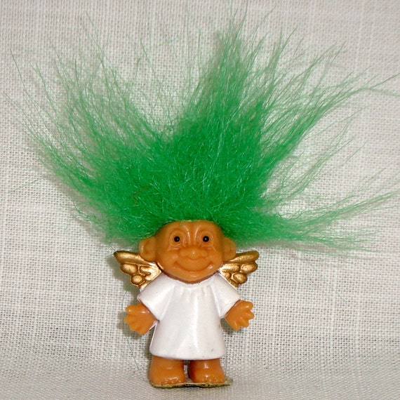 Troll Doll Angel Minature Russ China