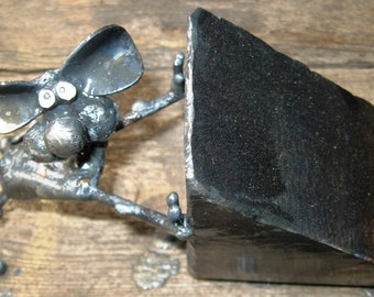 Steel Mouse Doorstop 2