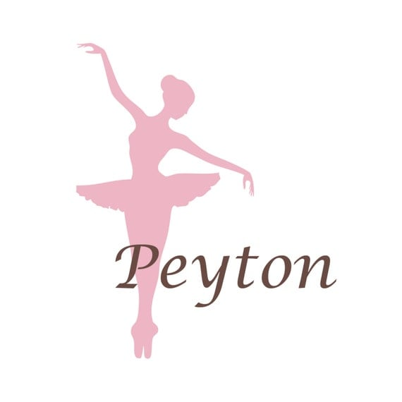 Ballerina wall decal personalized dance theme nursery name for Ballerina wall mural