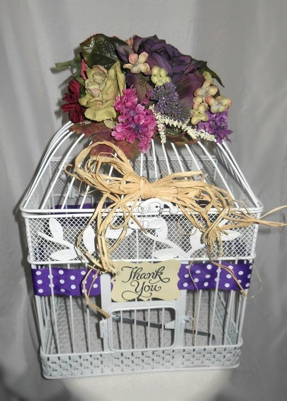 Huge Sale Bird Cage Wedding Gift Card Holder by marys4everflowers