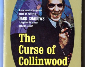 Dark Shadows, Book, The Curse of Collinwood, Marilyn Ross, Barnabas Collins, TV Show, Gothic Book, Jonathan Frid, Vampires, 1968