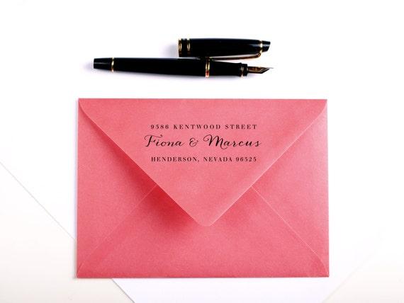 Wedding Invitation Return Address stamp, calligraphy, rubber stamp wedding stationery, handwriting, custom stamp, invitations, wedding stamp