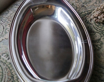 Oneida Community Plate Silver Plated Bread Tray - Monogrammed