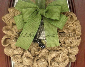 Burlap Wreath, Burlap Decor, Front Door Wreath, Everyday Wreath, Everyday Decor, Rustic Decor