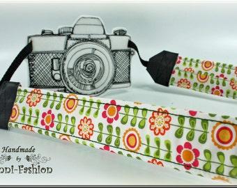 DSLR Camera strap, camerastrap, Flowers