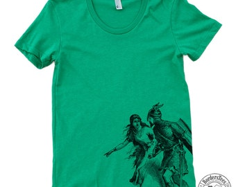 Women's KNIGHT & MAIDEN American Apparel Poly-Cotton Tee