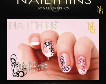 Designer Swirl Nail decal  Nail art design   NAILTHINS