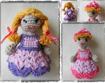 Crochet pattern Mary Sweet doll - Amigurumi