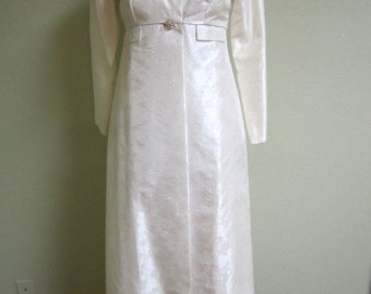 Vintage 1960s Wedding dress and overcoat. XS Vintage wedding gown/Mad Men Style/Jackie Kennedy style