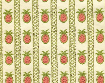 Vintage Wallpaper - Pineapples - By the Yard