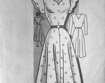 Early 1950s Mail Order Anne Adams DRESS Pattern sz 16  UNused