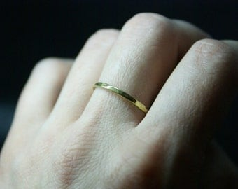 Stack ring, Stacking ring, Gold ring, Brass ring, Hammered ring , Dainty ring, Knucle ring