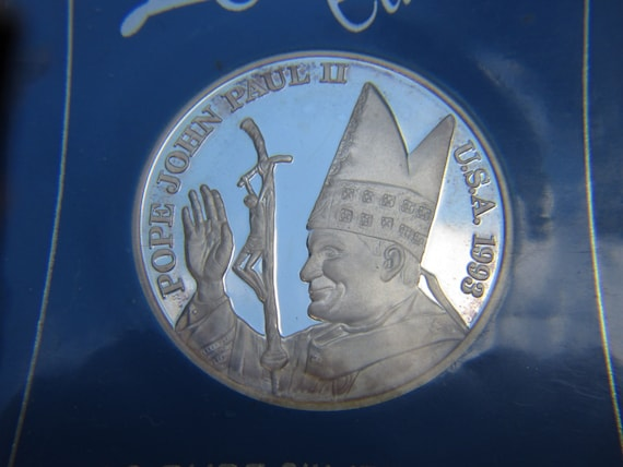 One Ounce Silver Coin Pope John Paul Ii Collector S
