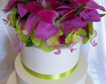 Lilies & Orchids Cake Topper