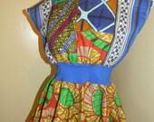 Blue Vines Schoolteacher Dress