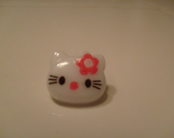 SALE - FLAWED 10 Hello Kitty Buttons Hot Pink - Wholesale