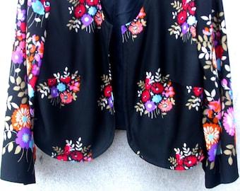 70's Floral 'Bolero' jacket