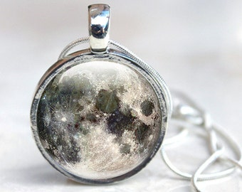 Moon Pendant -  Moon Glass Pendant - Full Moon Jewellery (MNM3)