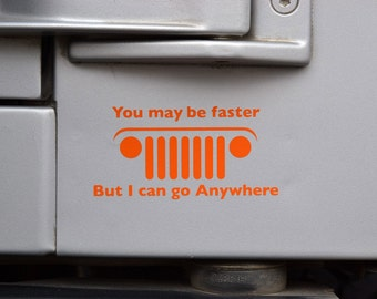 Jeep, Go Anywhere Decal