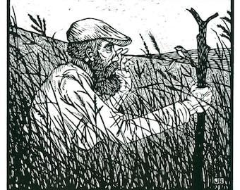 Walking Man in the Tall Grass Prairie