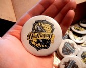Hufflepuff Crest 2.25 inch Pinback Button