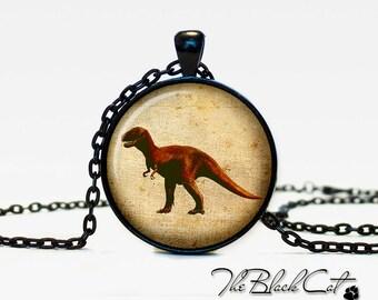 Dinosaur pendant Dinosaur necklace Dinosaur jewelry vintage style (PD020)