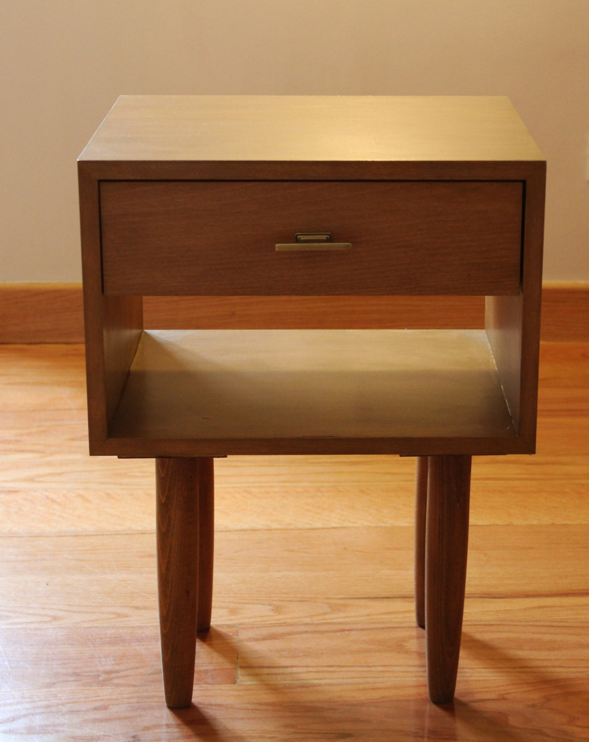 Vintage bedside table ideas - Mid Century Nightstand Bedside Table Scandinavian Design Custom Made Handmade