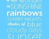 Word Art Print - Look to the sky