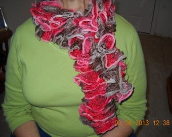 Harvest Red Ruffle scarf
