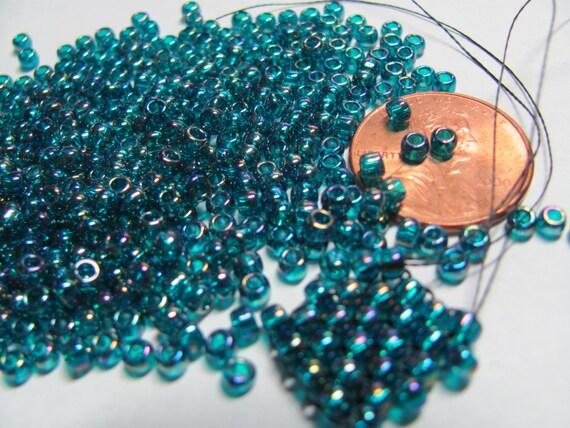 25grs toho glass seed beads size 8 supplies round blue zircon
