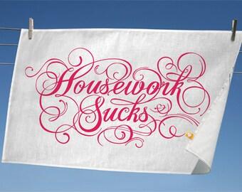 The Good Homemaker - 100% Linen hand screen printed teatowel