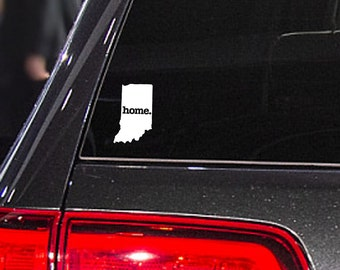Indiana Home. Decal Car or Laptop Sticker