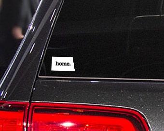 North Dakota Home. Decal Car or Laptop Sticker