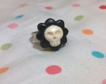 Skull Flower Ring