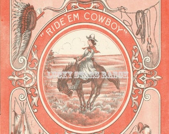 Cowgirl Rodeo Pendelton Oregon Let er Buck Poster 18x24
