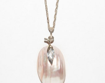 Mother of Pearl Pendant on Sterling Silver Necklace