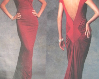 Vogue Evening Gown Pattern, Vogue 1078 Guy Laroche 12-16 Out of Print