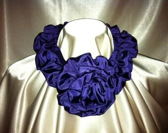 Tuck-a-Rose Scarf - Purple
