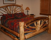 Bent BRANCH Bed - Wagon Wheel Bed-Twig Bed Twin size