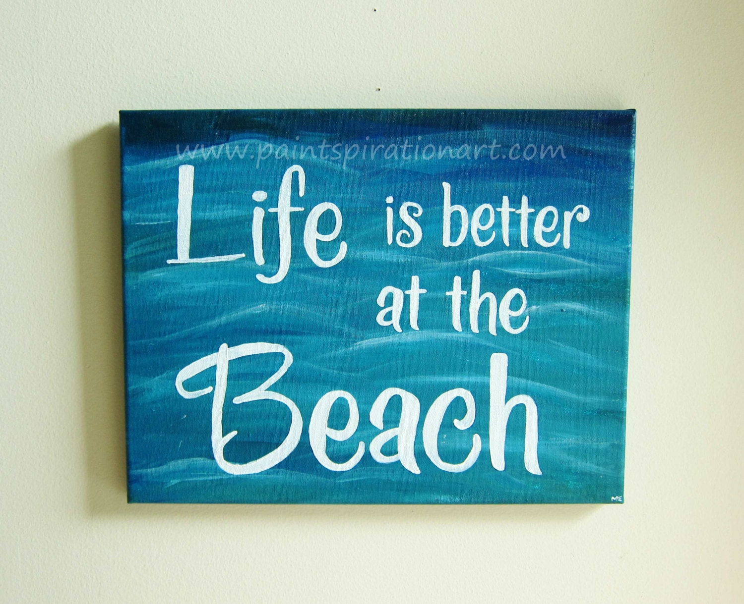 Beach Quotes: Beach Quotes Canvas Painting Life Is Better At The Beach