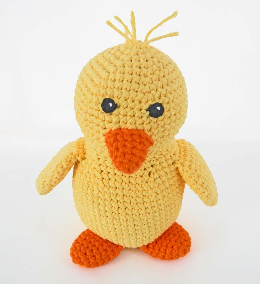 Amigurumi Duckling : Crochet Duck Amigurumi Pattern Kawaii Baby Chick Toy Stuffed