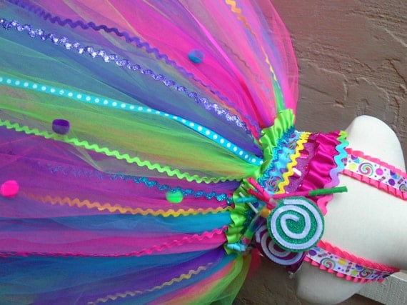 Candyland tutu dress-Candy land tutu dress candy land party