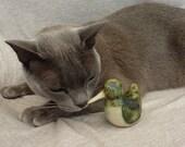 Handmade Ceramic Bird Green - TheHappyBirder