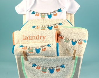 Unique Baby Gift Basket...Baby's laundry