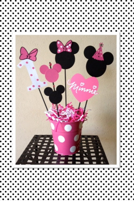 Minnie mouse birthday decoration centerpieces baby shower for Baby minnie mouse party decoration