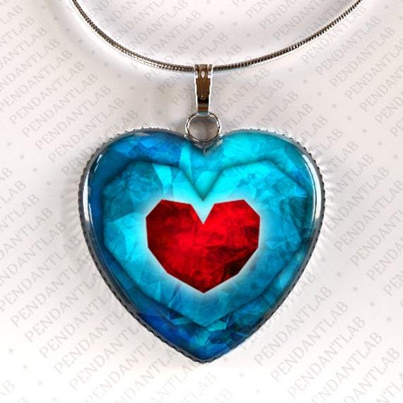 Zelda Heart Container Necklace: Piece Of Heart Pendant Legend Of Zelda Inspired By PendantLab