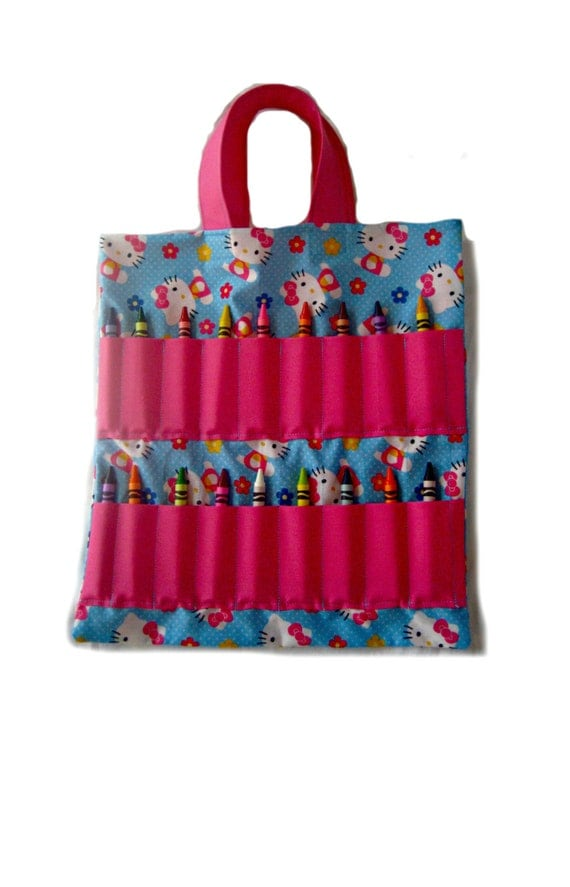 Coloring Book and Crayon Holder Bag Hello Kitty by Shoppebylola
