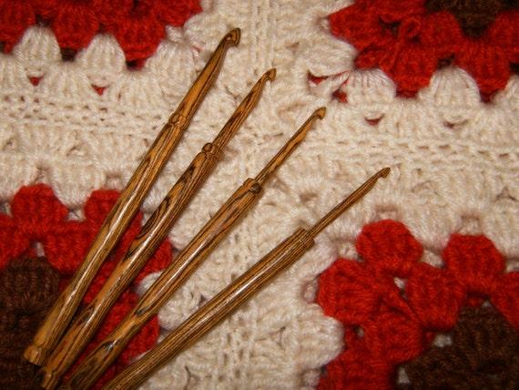 Wood Crochet Hooks, Handmade