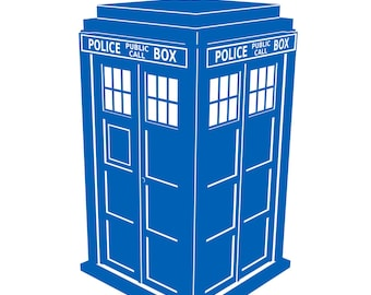 Dr Who's Tardis Sticker - Police Call Box Decal - sticker / wall art 7in x 11.7in