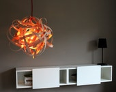 Lamp BIRDSNEST Beech Wood Pendant Lamp 16 inches